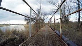 bro över floden arkivfilmer