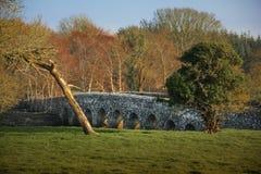 Bro över floden Boyne bective abbey klippning ståndsmässiga Meath ireland Royaltyfri Fotografi