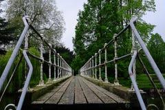Bro över floden i England royaltyfri foto