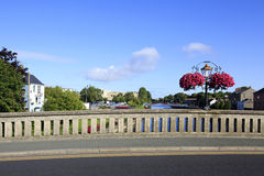 Bro över floden Nore i Kilkenny Arkivbilder