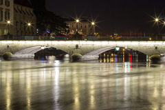 Bro över floden Sil Arkivfoton