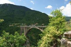 Bro över floden Tara och omgivning Royaltyfri Bild
