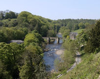 bro över flodswale royaltyfri fotografi