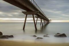 Bro över havet Royaltyfria Foton
