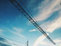 Bro över himmel Arkivbilder