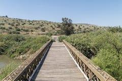 Bro över Jordan River - Israel Royaltyfri Foto