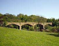 bro över richmond swale royaltyfria foton
