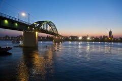 Bro över Savaet River Royaltyfri Foto