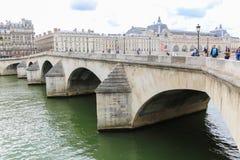 Bro över Seinet River, Paris Fotografering för Bildbyråer