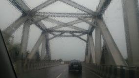Bro över sikt Arkivbild