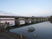 Bro över Snake River Marsing Idaho Royaltyfri Bild