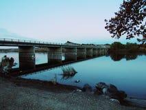 Bro över Snake River Marsing Idaho Arkivfoton