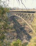 Bro över Zambezien Royaltyfria Foton