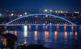 Bro Apollo på Bratislava, Slovakien Royaltyfri Fotografi
