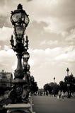 Bro av Alexandre III royaltyfria foton