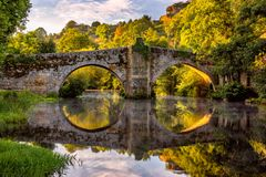 Bro av Allariz Royaltyfri Bild
