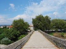 Bro av Arta på den Arachthos floden Epirus Grekland Royaltyfria Bilder