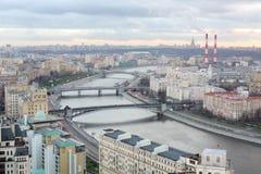 Bro av Bogdan Khmelnitsky, Borodinsky bro, Smolensky bro Fotografering för Bildbyråer