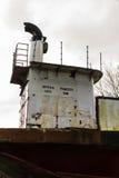 Bro av den övergivna bilfärjan Severn Princess Royaltyfri Foto