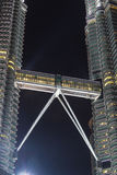Bro av den Petronas tvillingbrodern, Kuala Lumpur, Malaysia Arkivbild