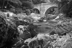 Bro av Feugh Banchory Skottland Arkivbild