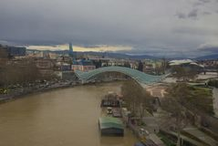 Bro av fred, Tbilisi royaltyfri bild