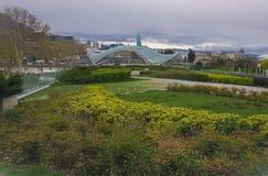 Bro av fred, Tbilisi arkivbild