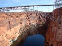 Bro av Glen Canyon Dam Arkivbilder