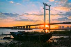 Bro av Jinjiang royaltyfri fotografi
