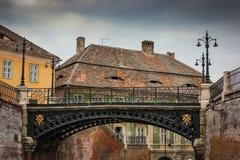 Bro av lögner i staden av Sibiu arkivfoto