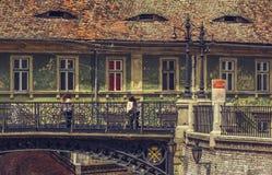 Bro av lögner, Sibiu, Rumänien Royaltyfria Bilder