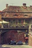 Bro av lögner, Sibiu, Rumänien Fotografering för Bildbyråer