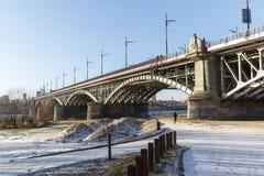 Bro av Poniatowski i Warszawa Fotografering för Bildbyråer