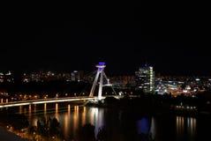 Bro av slovakiskt nationellt höja Fotografering för Bildbyråer