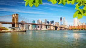 bro brooklyn manhattan Fotografering för Bildbyråer