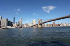 bro brooklyn manhattan nya USA york Arkivbild