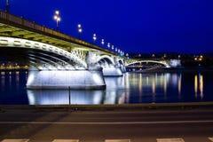 bro budapest Royaltyfri Foto