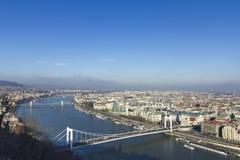 bro budapest elizabeth Fotografering för Bildbyråer