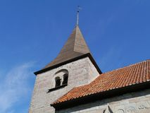 Bro church in Sweden. Detail of the Bro kyrka a medieval Lutheran church on the island Gotland in Sweden Stock Photo