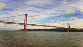 bro de lisbon portugal för 25 abril stock video
