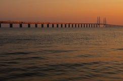 bro denmark sweden royaltyfri bild