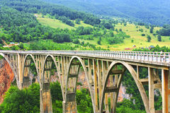 Bro Djurdjevica i Montenegro Royaltyfria Foton