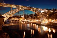 Bro Dom Louis, Porto Royaltyfri Fotografi