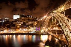 Bro Dom Louis, Porto, Portugal Royaltyfria Foton