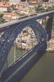 Bro Dom Louis, Porto, Portugal Arkivbild