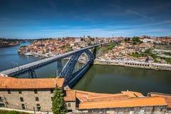 Bro Dom Louis, Porto, Portugal Royaltyfri Bild