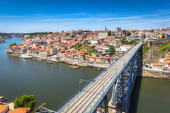 Bro Dom Louis, Porto, Portugal Arkivfoton