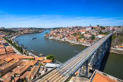 Bro Dom Louis, Porto, Portugal Arkivbilder