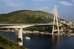 bro dubrovnik Arkivbilder