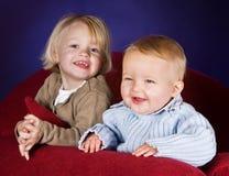 Bro e sis Fotografie Stock Libere da Diritti